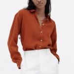 Samira Summer Blouse No Pockets - Red Brick