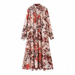 Nasya Summer Floral Lantern Sleeve Dress