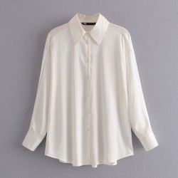 Jennifer Plain Long Sleeve Shirt - White