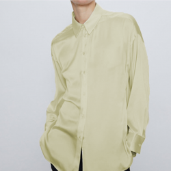 Jennifer Plain Long Sleeve Shirt - Beige