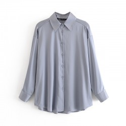 Jennifer Plain Long Sleeve Shirt - Blue