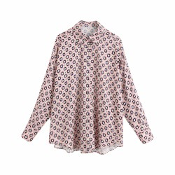 Halley Geometric Design Blouse