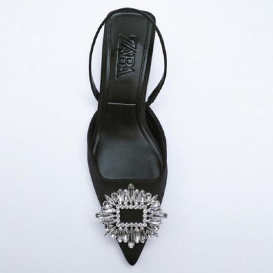 Amelia Pink Square Rhinestone Sandals