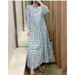 Alana Spring Geometric Turquoise Dress