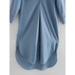 Vikki Satin Midi Dress - Sea Blue