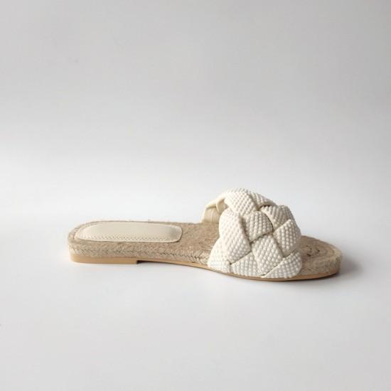 Tawny Twisted Flat Sandal