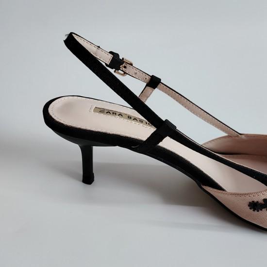 Helena Beaded Balsamic Stillettos With Heel Buckle