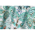 Fitri Floral Printed Paisley Emerald Green Dress