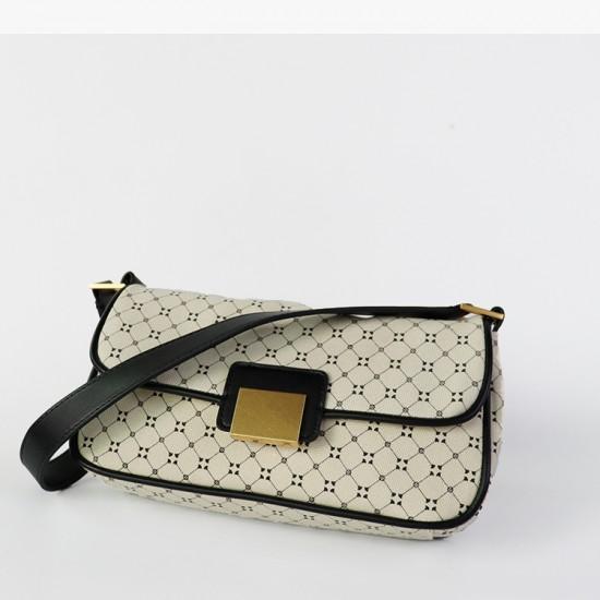 Grace Monogram Geometric Baguette Handbag