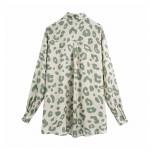 Kimberly Cream Leopard Print - Mint Green