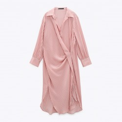 Shania Striped Pink Long Sleeve Dress