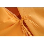 Holly Double Brested Dress - Dusty Orange