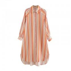 Vicky Summer Stripe Long Blouse