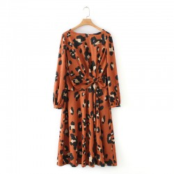 Misty Leopard Printed Long Blouse