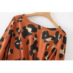Misty Leopard Printed Long Blouse