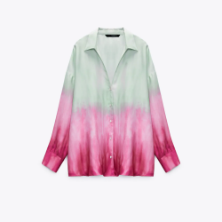 Rayya Pink and Blue Tie-Dye Shirt