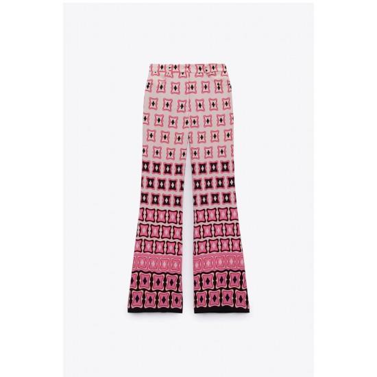 Faith Geometric Printed Dusty Pink Design Top