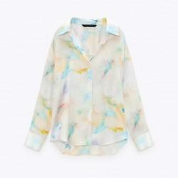Kaitlyn Soft Rainbow Coloured Tie-dye Blouse