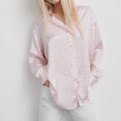 Chloe Satin Pink Printed Blouse