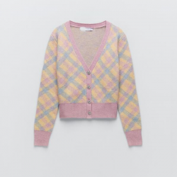 Cardy Elegant Soft Touch Knit Cardigan Soft Pink