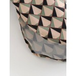 Giselle Soft Pink Diamond Geometric Blouse
