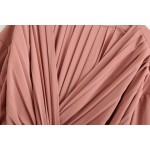 Aurora Dusty Pink Pleated Dress With Serpent Belt