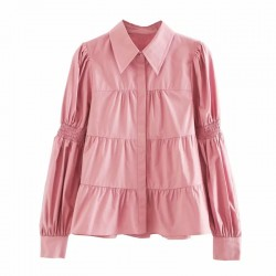 Aesya Pink Lapel Blouse