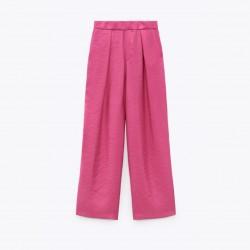 Alex High-Waist Straight Cut Pink Pants