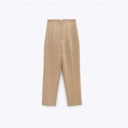 Fateha Lapel HIgh Waisted Slim Pants