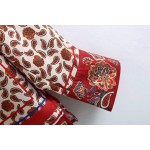 Emily Red Floral Satin Blouse