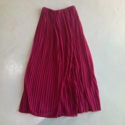 Sarimah Pleated Long Skirt - Maroon