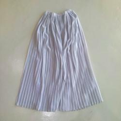 Sarimah Pleated Long Skirt - Grey