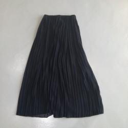 Sarimah Pleated Long Skirt - Black