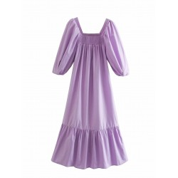 Adira Puff Sleeve Lilac Dress