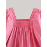 Adira Puff Sleeve Pink Dress