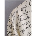 Eymira Scribble Letter Printed Blouse