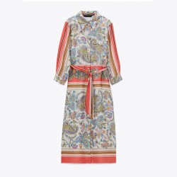 Effrina Spring Floral Stripe Dress