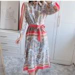 Effrina Spring Floral Stripe Dress