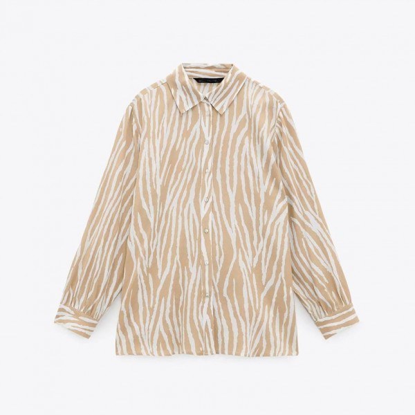 Izabel Golden Stripe Printed Blouse
