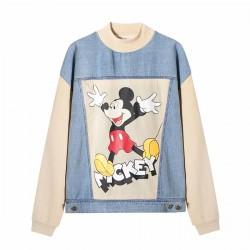 Debby Mickey Disney Printed Beige Denim Sweater