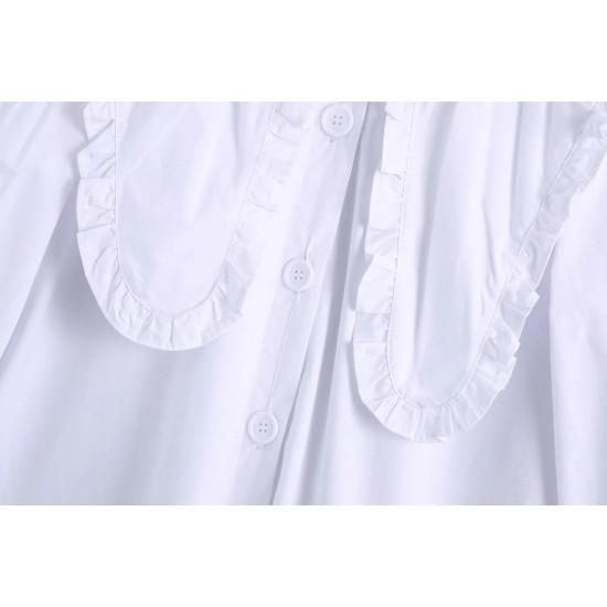Chantela Plain White Blouse