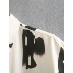 Abigail Abstract Holstein Double-Pocket Blouse