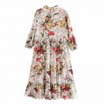 Laura Elegant Retro Floral Long Dress