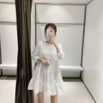 Gypsy Textured Layered Dress - Daisy White