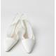 Ivory White Mesh Stilleto